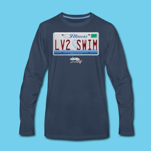 LIMITED TIME SALE- $3 OFF!! IL License Plate Tee- Youth - Men's Premium Long Sleeve T-Shirt