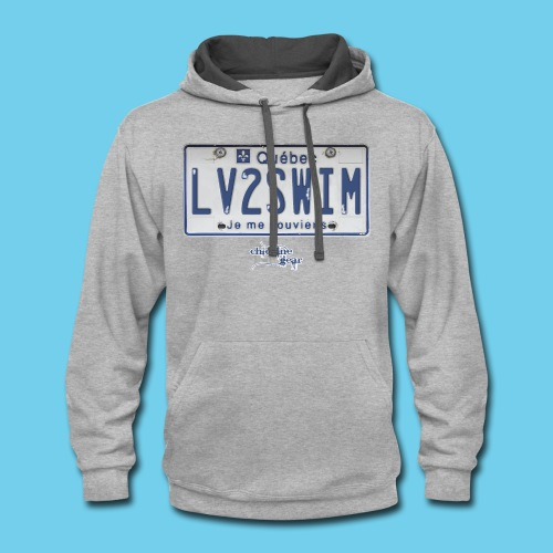 LIMITED TIME SALE- $3 OFF!! Quebec License Plate Tee- Men's LS - Contrast Hoodie