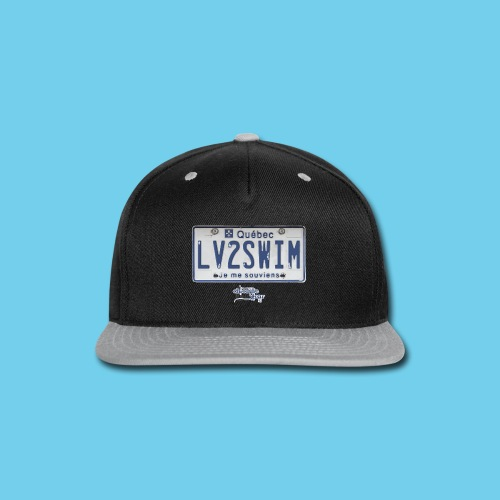 LIMITED TIME SALE- $3 OFF!! Quebec License Plate Tee- Men's LS - Snap-back Baseball Cap