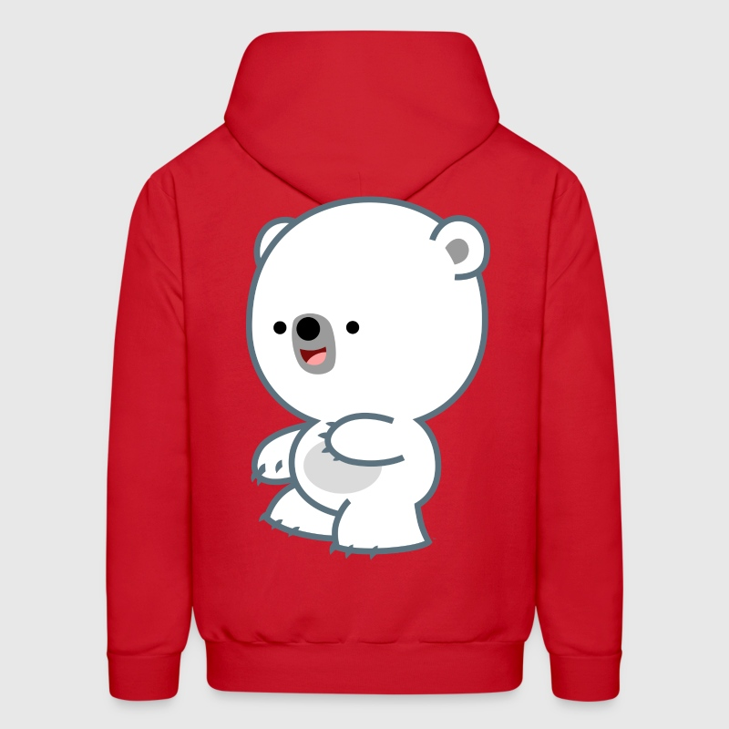 Prankish Cartoon Polar Bear Cub- Cheerful Madness Hoodies - Men's Hoodie