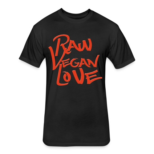 Raw Vegan Love - Fitted Cotton/Poly T-Shirt by Next Level