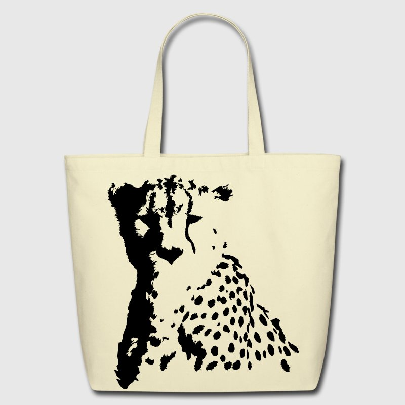 cheetah head Bags & backpacks - Eco-Friendly Cotton Tote