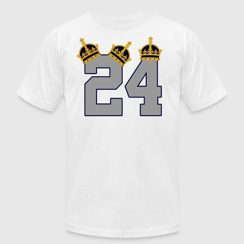 Miggy 24 Triple Crown 3 Crowns T-Shirts - Men's T-Shirt by American Apparel