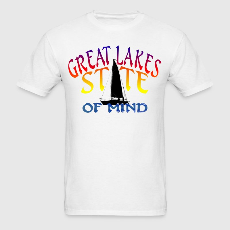 Great Lakes State of Mind T-Shirts - Men's T-Shirt