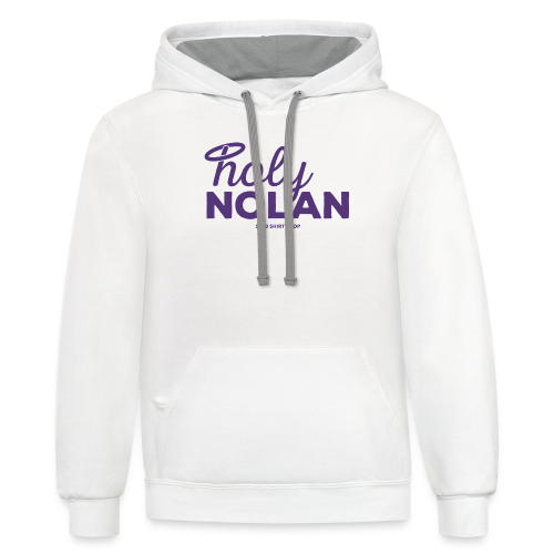 Holy Nolan - Ladies Longer Length Fitted Tank 2 - Contrast Hoodie