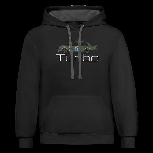 Volvo 242 Turbo Track Car (Olive) - Contrast Hoodie