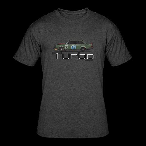 Volvo 242 Turbo Track Car (Olive) - Men's 50/50 T-Shirt