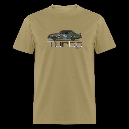 Volvo 242 Turbo Track Car (Olive) - Men's T-Shirt