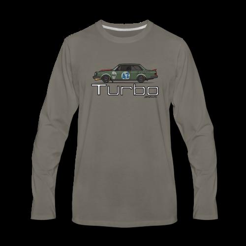 Volvo 242 Turbo Track Car (Olive) - Men's Premium Long Sleeve T-Shirt
