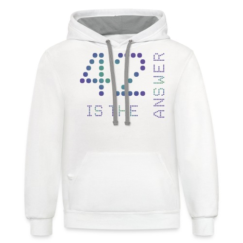 42 is the Answer - Contrast Hoodie