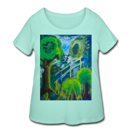 Friends in the Forest, Men's T-shirt - Women's Curvy T-Shirt