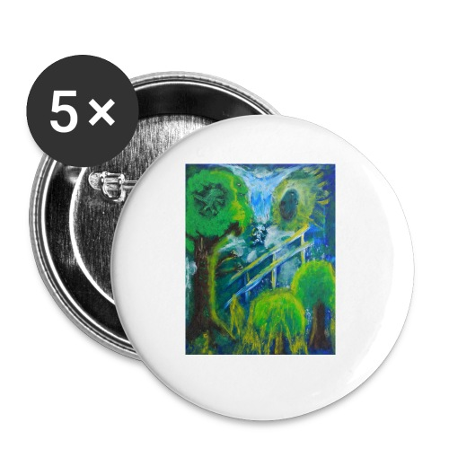 Friends in the Forest, Men's T-shirt - Buttons small 1'' (5-pack)