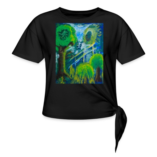 Friends in the Forest, Men's T-shirt - Women's Knotted T-Shirt