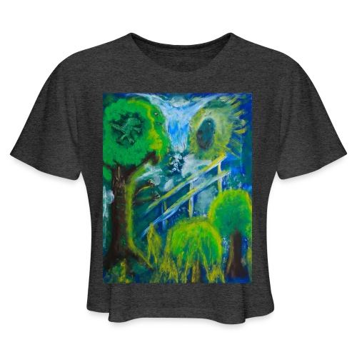 Friends in the Forest, Men's T-shirt - Women's Cropped T-Shirt
