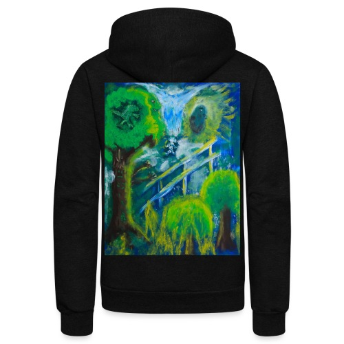 Friends in the Forest, Men's T-shirt - Unisex Fleece Zip Hoodie
