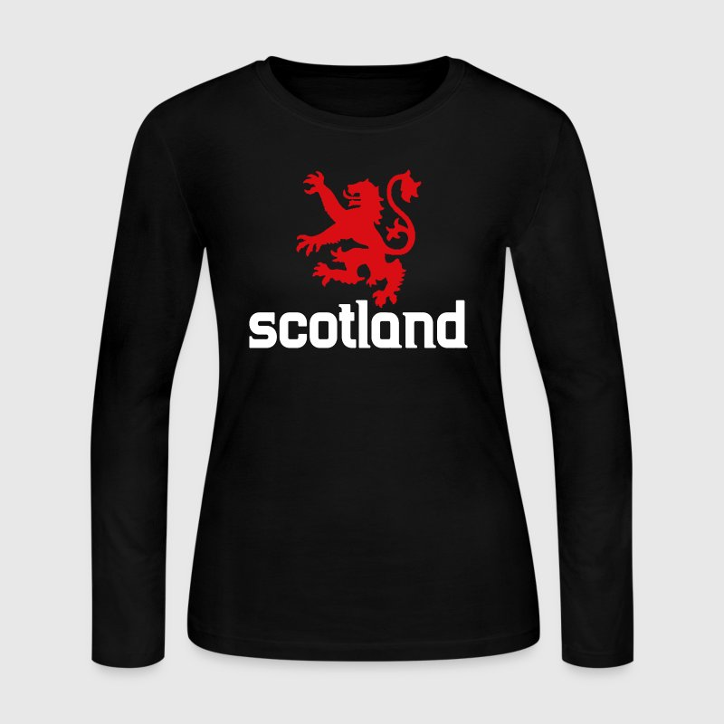Scotland Lion UK Scottish Long Sleeve Shirts - Women's Long Sleeve Jersey T-Shirt