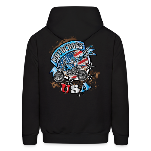 Motocross Freestyle USA BACK - Men's Hoodie