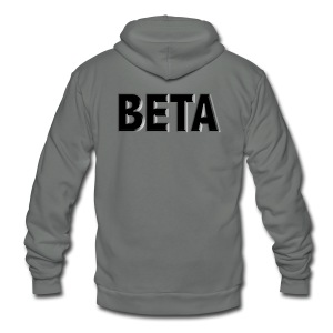 Beta Male Gym Shirt - Unisex Fleece Zip Hoodie by American Apparel
