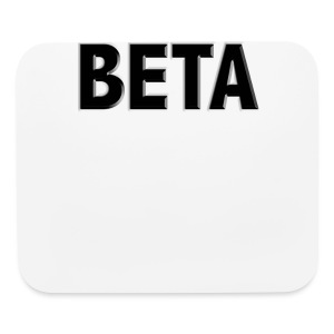 Beta Male Gym Shirt - Mouse pad Horizontal