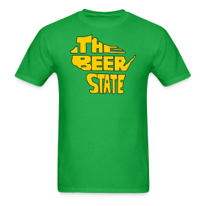 The Beer State (Gold)  - Men's T-Shirt