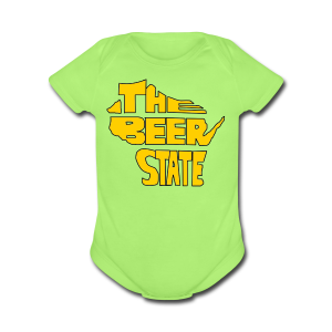 The Beer State (Gold)  - Short Sleeve Baby Bodysuit