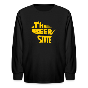 The Beer State (Gold)  - Kids' Long Sleeve T-Shirt