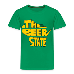The Beer State (Gold)  - Toddler Premium T-Shirt