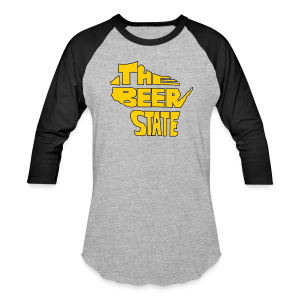 The Beer State (Gold)  - Baseball T-Shirt