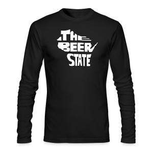 The Beer State (White)  - Men's Long Sleeve T-Shirt by Next Level