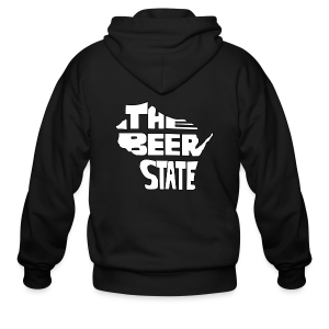 The Beer State (White)  - Men's Zip Hoodie