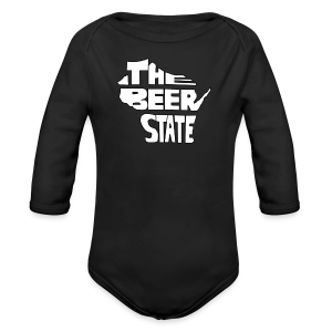 The Beer State (White)  - Long Sleeve Baby Bodysuit