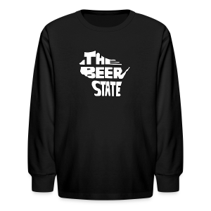 The Beer State (White)  - Kids' Long Sleeve T-Shirt