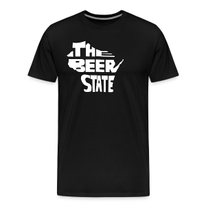 The Beer State (White)  - Men's Premium T-Shirt