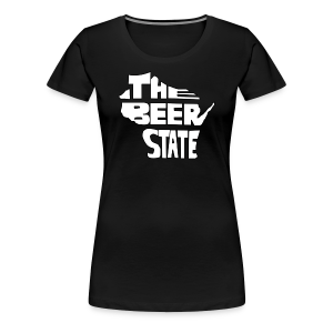 The Beer State (White)  - Women's Premium T-Shirt