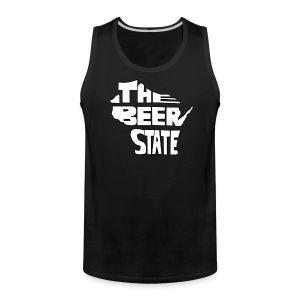 The Beer State (White)  - Men's Premium Tank