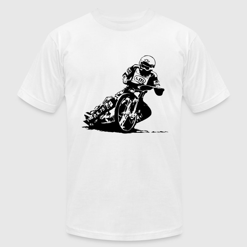 Speedway Driver - Dirt Track Racing T-Shirts - Men's T-Shirt by American Apparel