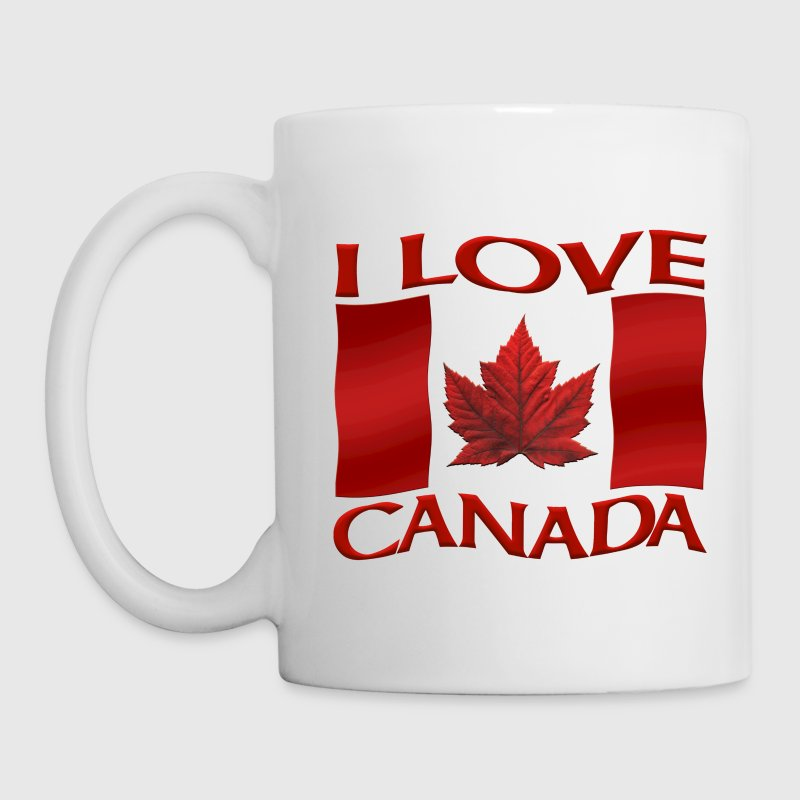 I Love Canada Souvenir Cups Red Canada Flag Mugs - Coffee/Tea Mug