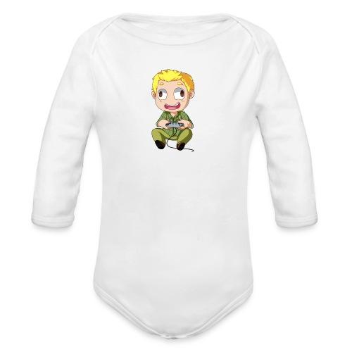 GOG Game Face Pillow - Organic Long Sleeve Baby Bodysuit