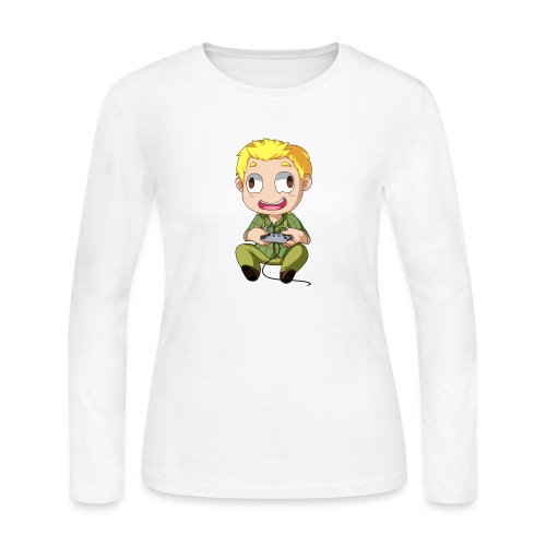 GOG Game Face Pillow - Women's Long Sleeve Jersey T-Shirt