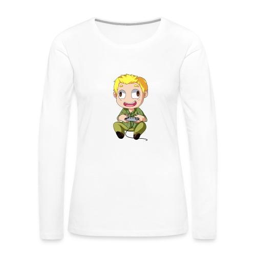 GOG Game Face Pillow - Women's Premium Long Sleeve T-Shirt