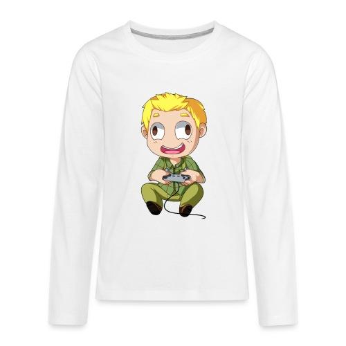 GOG Game Face Pillow - Kids' Premium Long Sleeve T-Shirt