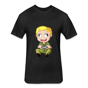 GOG Game Face Men's Tee - Fitted Cotton/Poly T-Shirt by Next Level