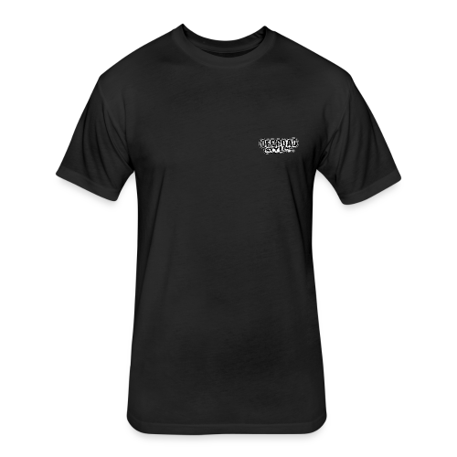 Mudding USA BACK - Fitted Cotton/Poly T-Shirt by Next Level