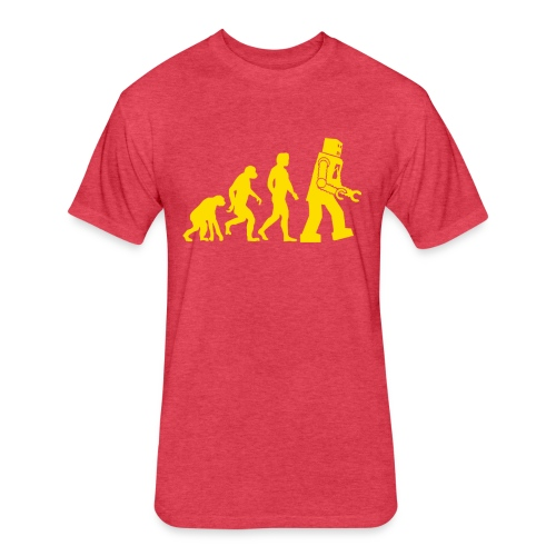 Sheldon Robot Evolution - Fitted Cotton/Poly T-Shirt by Next Level
