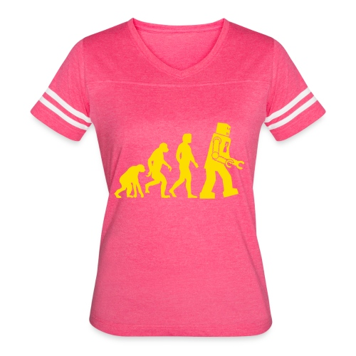 Sheldon Robot Evolution - Women's Vintage Sport T-Shirt