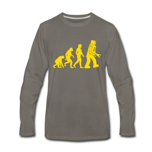 Sheldon Robot Evolution - Men's Premium Long Sleeve T-Shirt