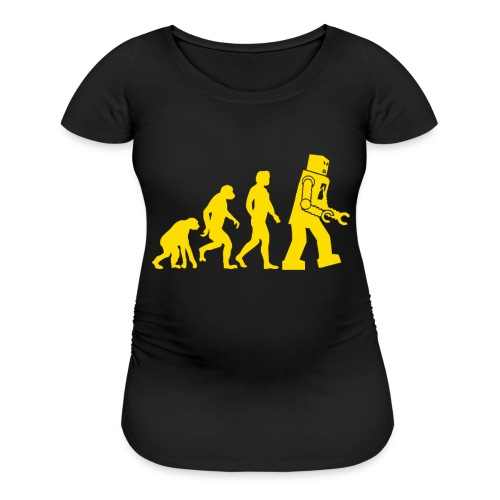 Sheldon Robot Evolution - Women's Maternity T-Shirt