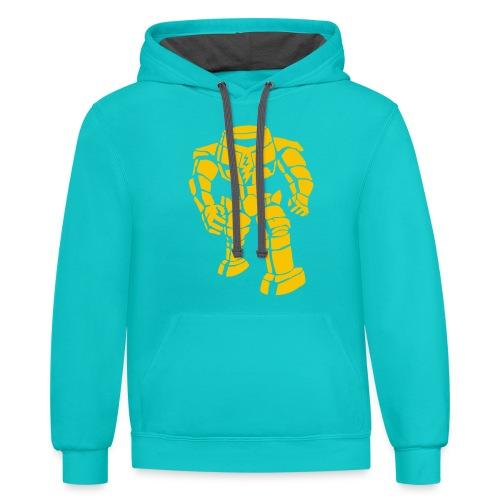 Sheldon: Manbot T-Shirt - Contrast Hoodie
