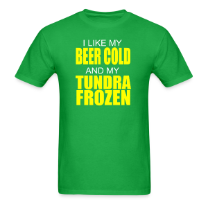 Beer Cold & Tundra Frozen  - Men's T-Shirt
