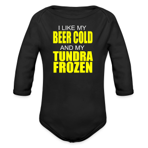 Beer Cold & Tundra Frozen  - Long Sleeve Baby Bodysuit